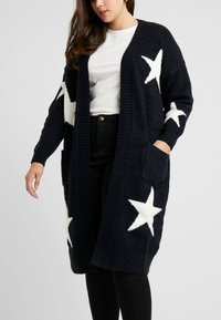 Simply Be - ELEVATED ESSENTIALSEDGE TO EDGE - Kardigan - navy star - 3
