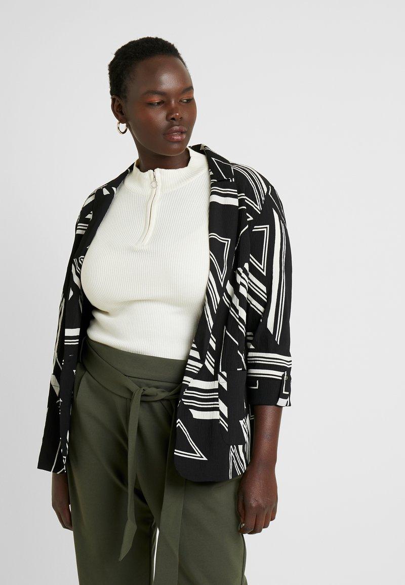 Simply Be - NEW COSMO BLAZER - Blazer - black/white