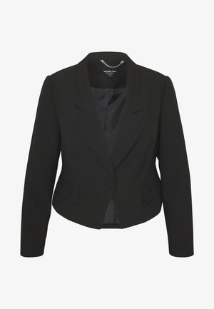 ESSENTIAL FASHION NEW CROPPED STYLE COLLAR - Blazer - black