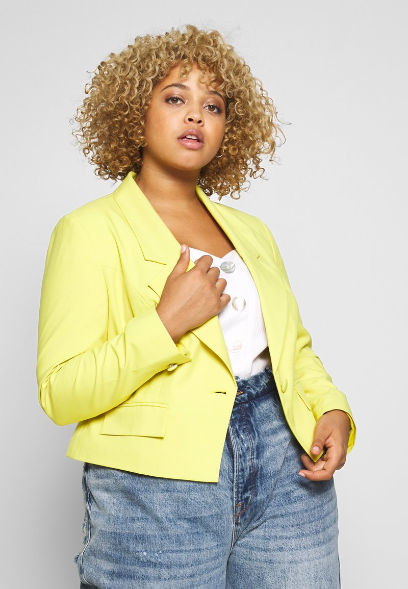 Simply Be - ESSENTIAL FASHION NEW STYLE - Blazer - lime