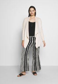 Simply Be - LONGLINE WATERFALL JACKET  - Kort kappa / rock - pale stone - 1