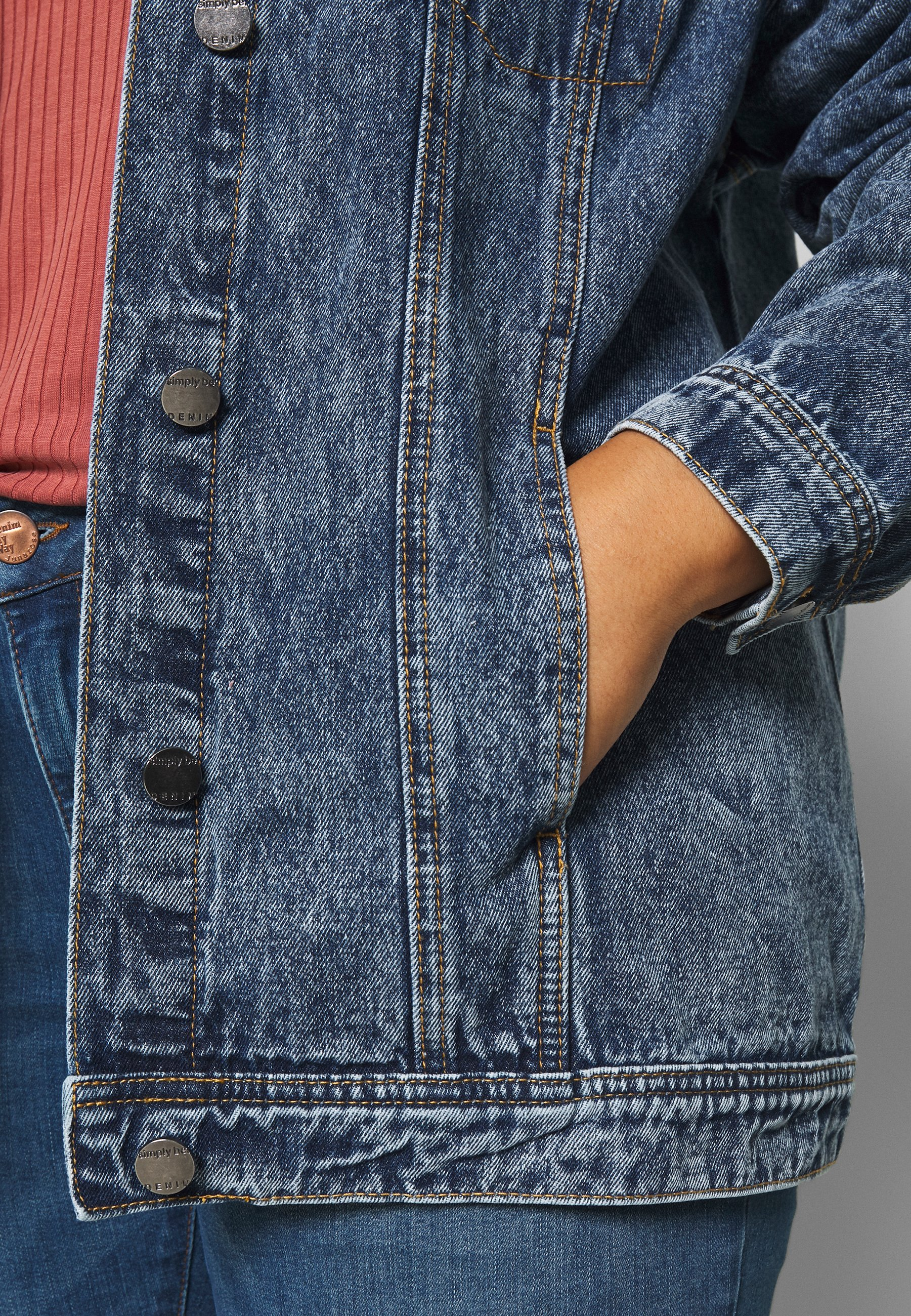 Simply Be Giacca Di Jeans - Blue oCXvq