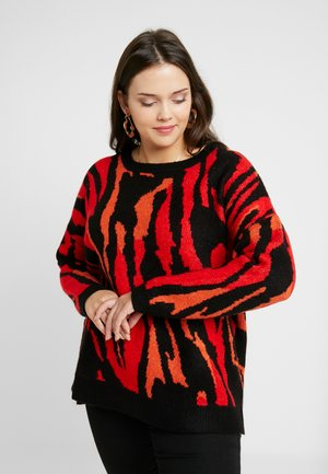 ELEVATED ESSENTIALS BOYFRIEND JUMPER - Strikkegenser - red