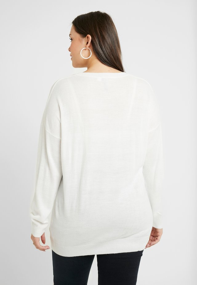 NOVELTY SEQUIN BOW - Strickpullover - ivory