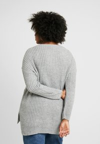 Simply Be - SIDE SPLIT TUNIC - Pullover - grey marl