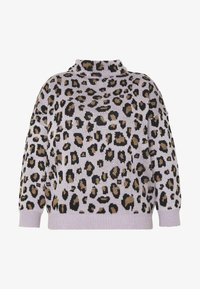 Simply Be - LEOPARD JUMPER - Strikkegenser - lilac/multi - 4