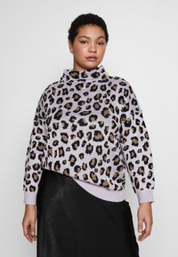 Simply Be - LEOPARD JUMPER - Strikkegenser - lilac/multi - 0