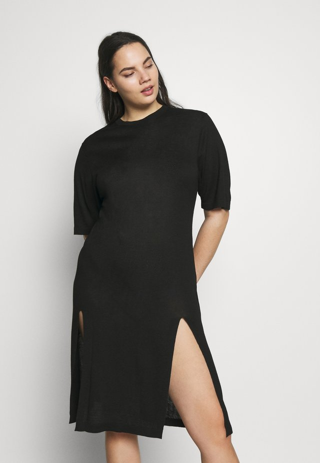 SIDE SPLIT - Jumper dress - black