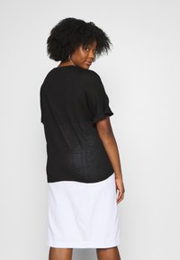 Simply Be - RUFFLE BOXY TEE UPDATE - T-Shirt print - black - 2
