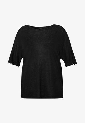 RUFFLE BOXY TEE UPDATE - Print T-shirt - black