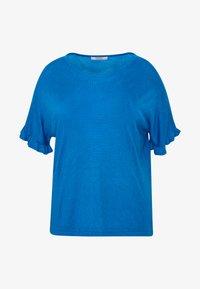 Simply Be - RUFFLE BOXY TEE - T-shirts med print - azure blue - 3