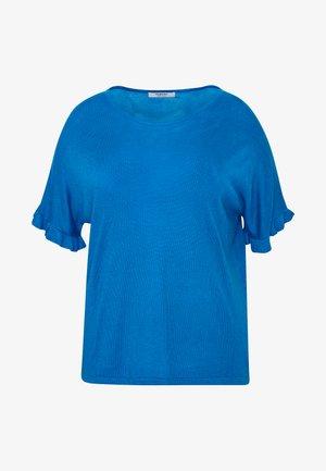 RUFFLE BOXY TEE - T-shirt imprimé - azure blue
