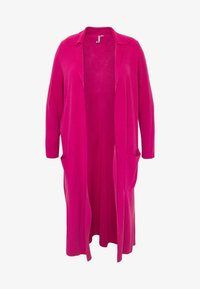 Simply Be - LONGLINE COATIGAN - Vest - bright pink - 4