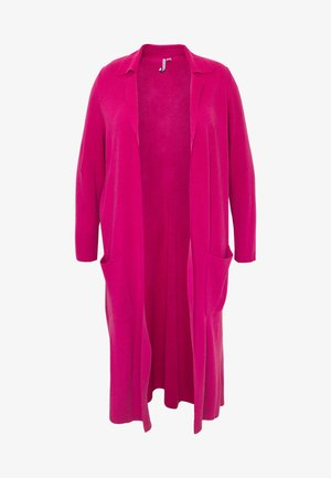LONGLINE COATIGAN - Cardigan - bright pink