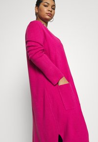 Simply Be - LONGLINE COATIGAN - Vest - bright pink - 3