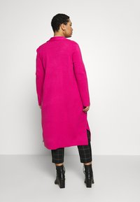 Simply Be - LONGLINE COATIGAN - Vest - bright pink - 2