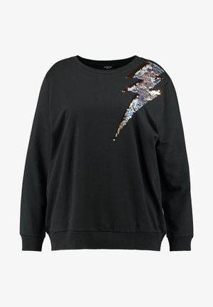 LIGHTNING BOLT SEQUIN  - Sweatshirt - black/silver