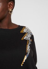 Simply Be - LIGHTNING BOLT SEQUIN  - Sweater - black/silver - 4