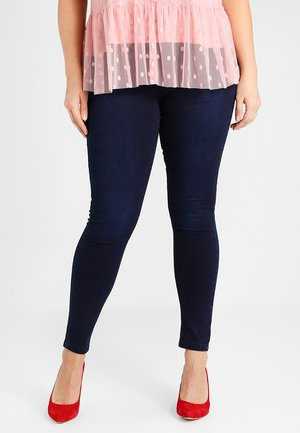 LUCY HIGH WAIST SUPER SOFT - Skinny džíny - dark indigo