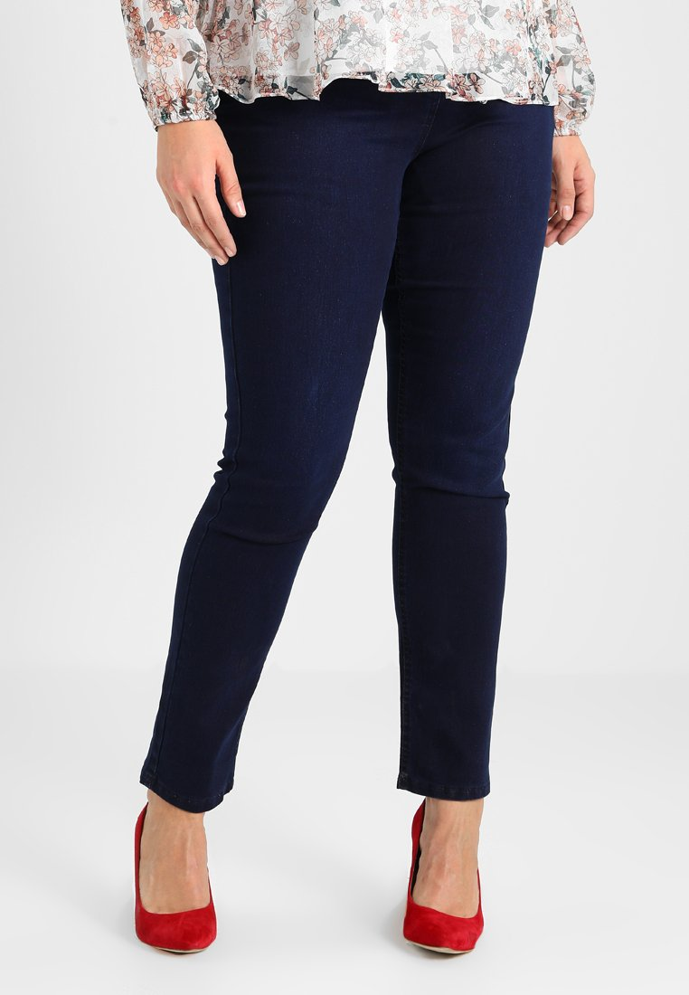 Simply Be - LEXI HIGH WAIST SUPER SOFT - Džíny Slim Fit - dark indigo