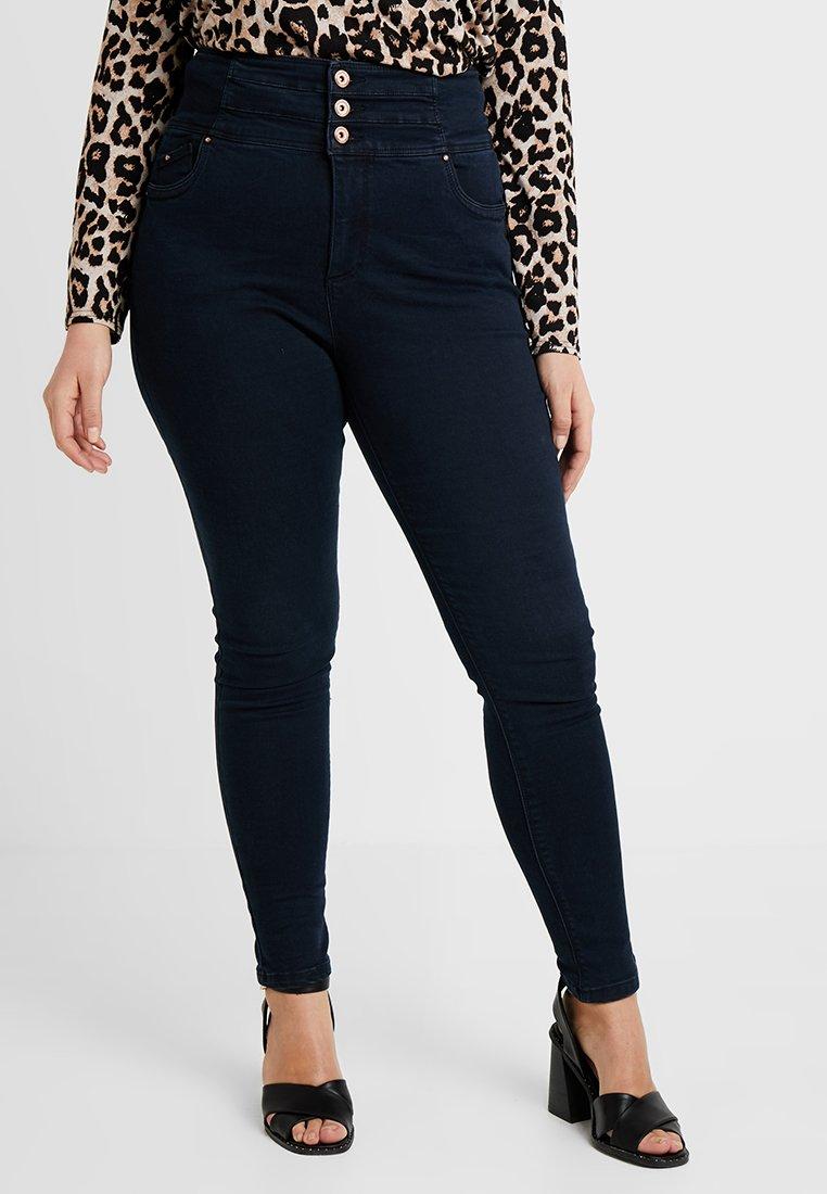 Simply Be - SHAPE & SCULPT EXTRA HIGH WAIST - Skinny džíny - dark indigo