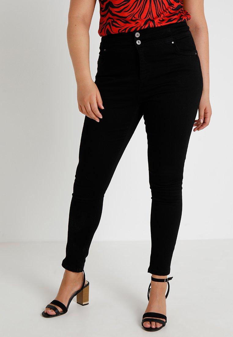 Simply Be - SHAPE & SCULPT EXTRA HIGH WAIST - Skinny džíny - black