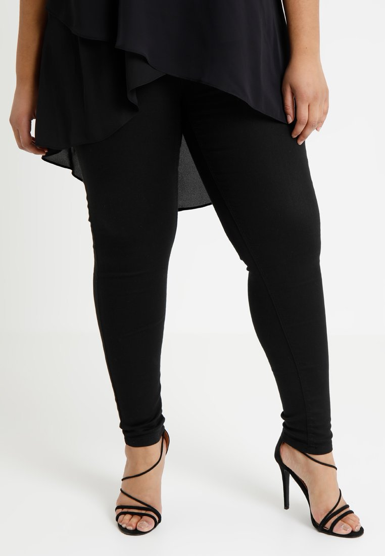 Simply Be - SOPHIA FLY FRONT  - Jeans Skinny Fit - black