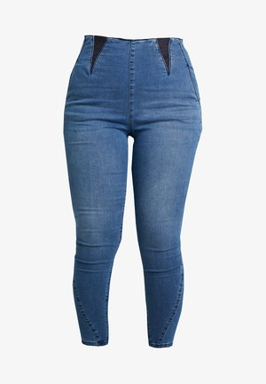 HIGH WAIST SHAPER  - Jeggings - mid blue
