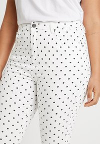 Simply Be - HIGH WAIST SPOT PRINT - Jeans Skinny Fit - white - 3