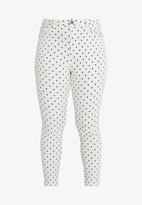 Simply Be - HIGH WAIST SPOT PRINT - Jeans Skinny Fit - white - 4