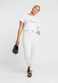 Simply Be - HIGH WAIST SPOT PRINT - Jeans Skinny Fit - white - 1