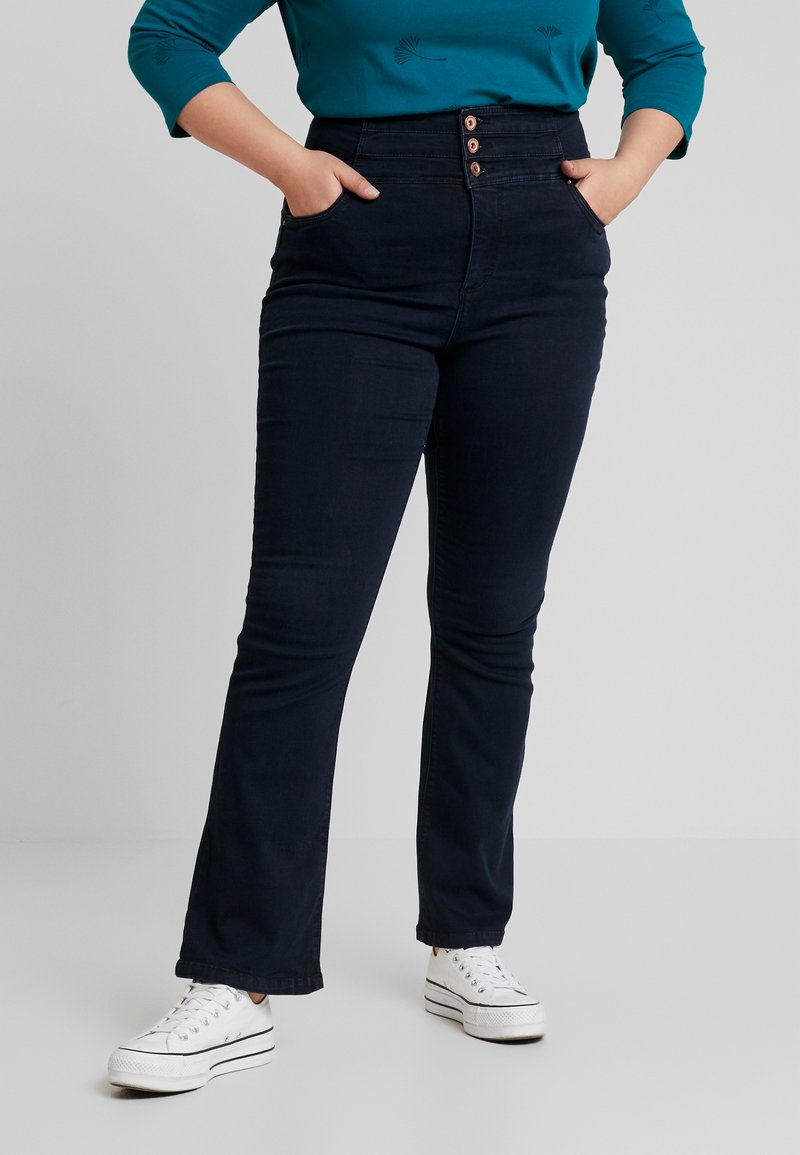 Simply Be - SHAPE SCULPT SUPER HIGH WAIST - Jeans Bootcut - dark indigo