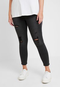 Simply Be - HIGH WAIST - Jeans Skinny - washed black - 0