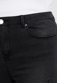 Simply Be - HIGH WAIST - Jeans Skinny - washed black - 4