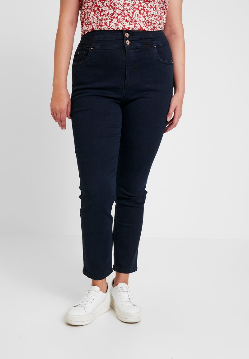 Simply Be - SHAPE SCULPT SUPER HIGH WAIST STRAIGHT LEG - Jeansy Straight Leg - dark indigo