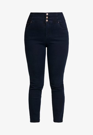 SHAPE SCULPT SUPER HIGH WAIST STRAIGHT LEG - Džíny Straight Fit - dark indigo