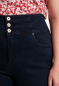 Simply Be - SHAPE SCULPT SUPER HIGH WAIST STRAIGHT LEG - Jeansy Straight Leg - dark indigo - 3