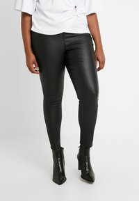 Simply Be - HIGH WAIST - Pantalones - black - 0