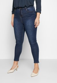 Simply Be - HIGH WAIST - Jeans Skinny Fit - rich indigo - 0