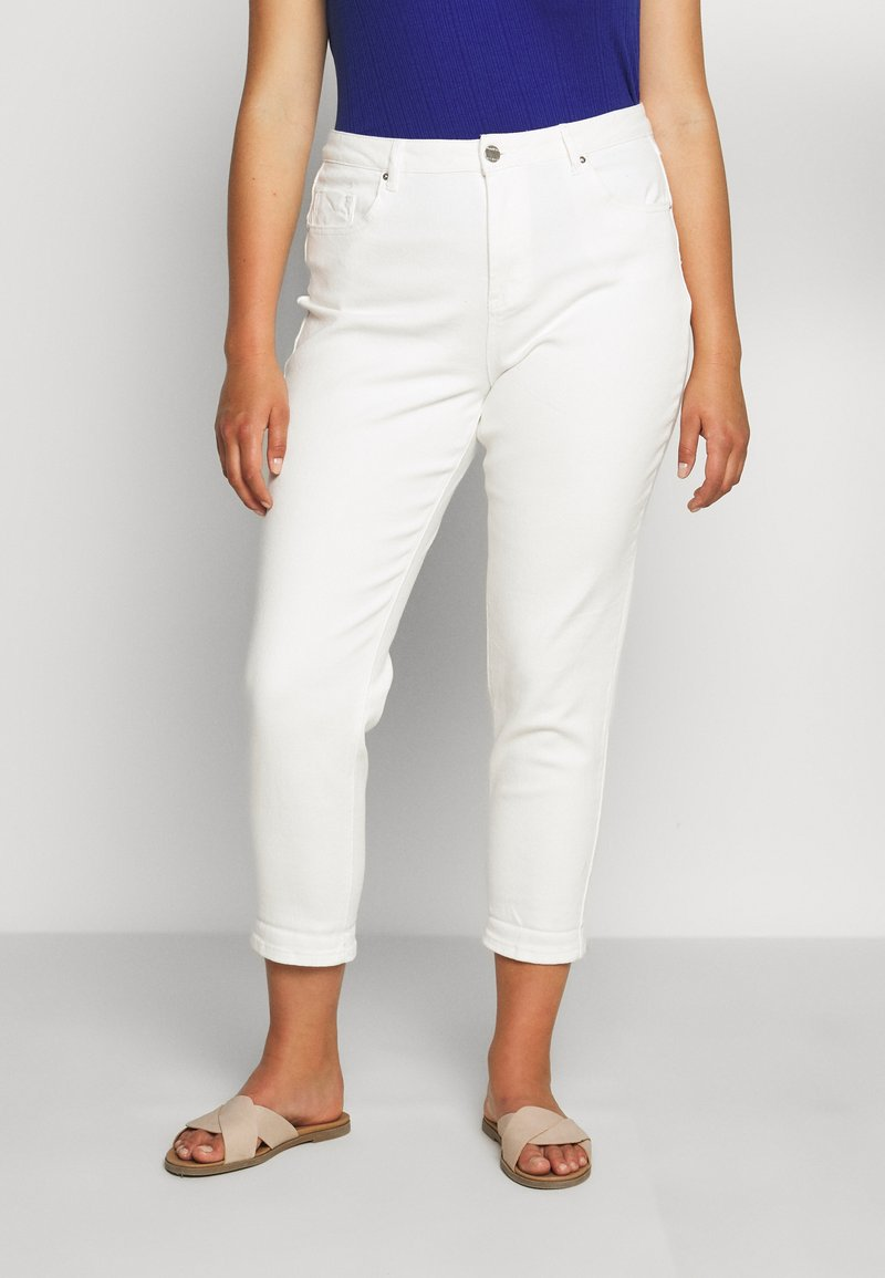 Simply Be - DEMI HIGH WAIST MOM - Jeans Skinny Fit - ecru