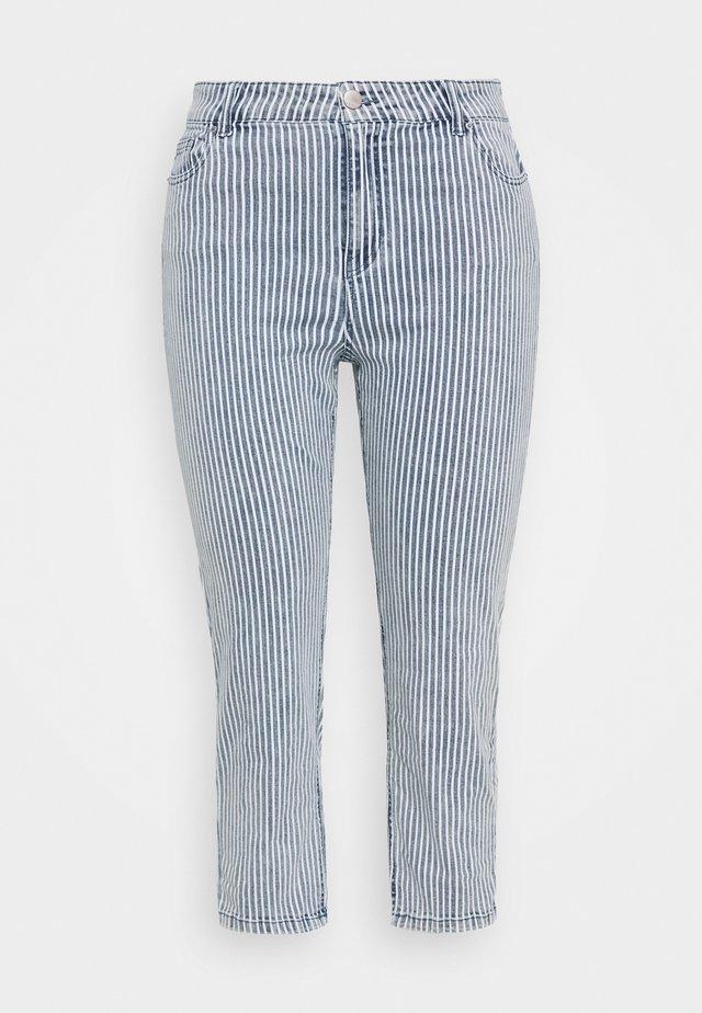 STRIPE CROP SLIM  - Jeans Slim Fit - blue