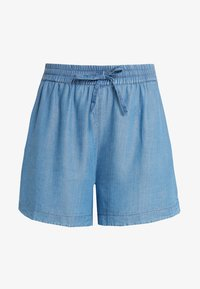 CAPSULE by Simply Be - PULL ON SHIRRED WAIST - Shorts - mid blue - 3