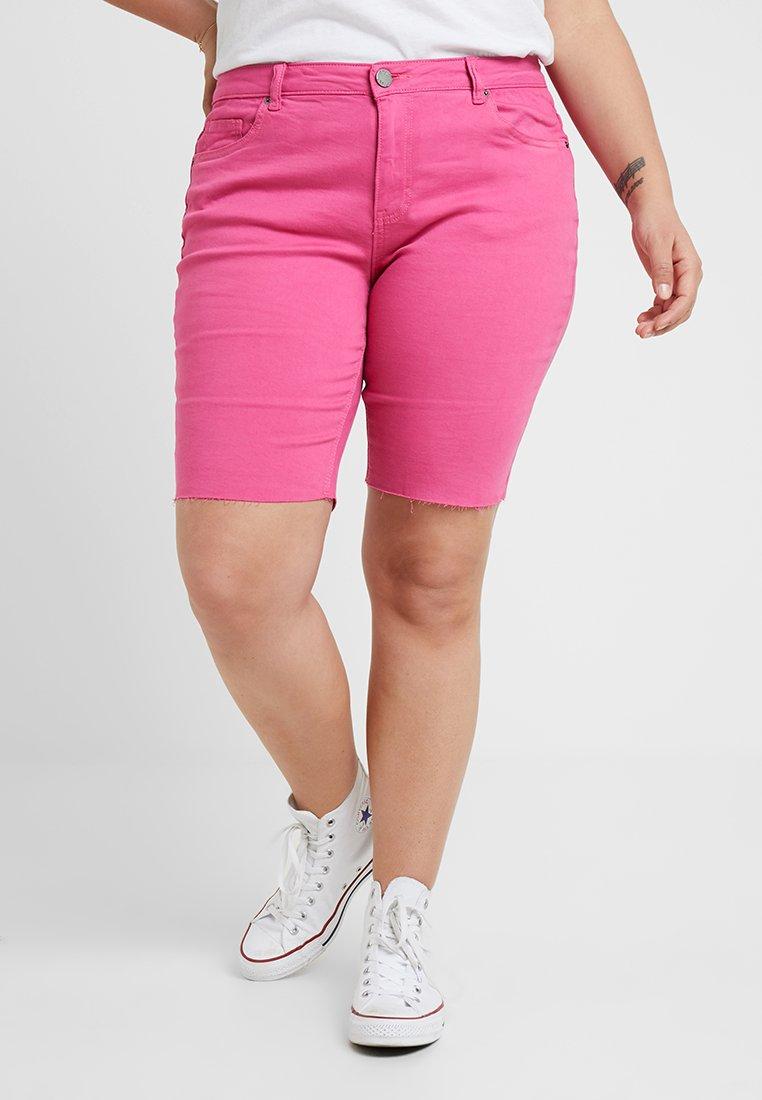 Simply Be - FERN - Szorty jeansowe - pink