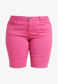 Simply Be - FERN - Szorty jeansowe - pink - 4