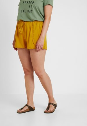 MOCK WRAP TRIM - Shortsit - ochre