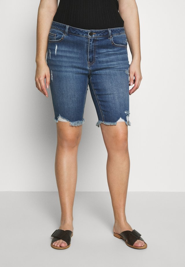 FERN KNEE LENGTH  - Jeans Shorts - stonewash