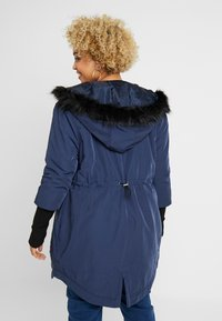 Simply Be - FUR LINED SPORTY PARKA WITH CUFF - Villakangastakki - navy - 2