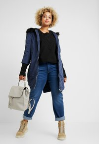 Simply Be - FUR LINED SPORTY PARKA WITH CUFF - Villakangastakki - navy - 1
