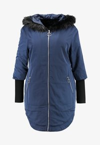Simply Be - FUR LINED SPORTY PARKA WITH CUFF - Villakangastakki - navy - 4
