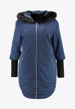 FUR LINED SPORTY PARKA WITH CUFF - Mantel - navy